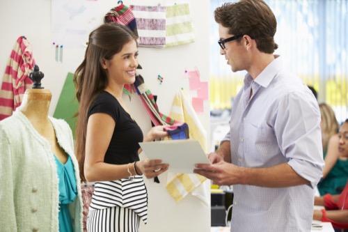 Retailmanagerin im Gespräch